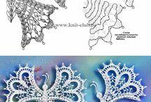 Бабочки вязаные