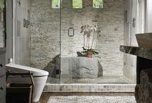 diseño interior con piedra