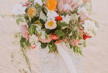 Desert Wedding Inspiration / Fine Art Wedding Photography Inspiration. Desert Wedding using Fuji 400h Film.