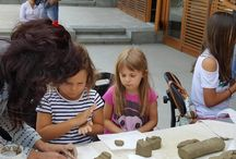 Living at Danube - Workshop with white clay for children 6-13 years