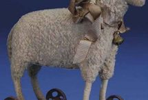 Antique Toy Sheep / by Little Burrow Designs
