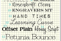 Font-astic! / by Julie Thorpe