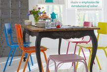 Rainbow chair inspiration