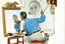 Norman Rockwell / Norman Rockwell is a 20th Century American painter and illustrator whose popularity grew as an iconic artist for his reflections of Amercan culture in every day scenarios.