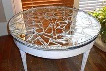 mesa decorada de espelho