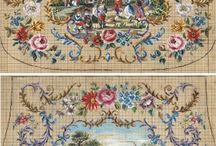 Вышивка крестиком. Старинные схемы