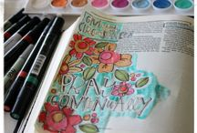 Art Journal / idee per realizzare un diario creativo e super colorato