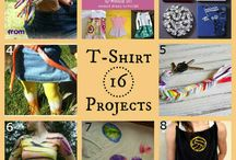 T-shirt Craft ideas / Sometimes T-Shirts get old and ratty, and sometimes a plain white tee gets boring. In that case, these wearable T-Shirt crafts are a great way to use the t-shirt in a new way!