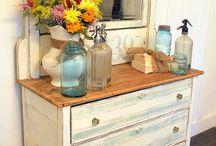Painted dresser / Dresser for TV stamd