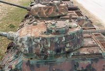 WW II tanks in later use
