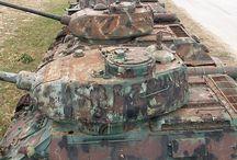 WW II tanks in later use