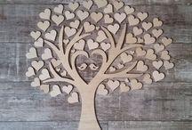 Wedding Tree Typ 3 - Gästebuch zur Hochzeit - Hochzeitsbaum - Herzen
