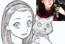 Cartooning someone
