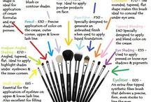 make up tools / by Valerie Walls