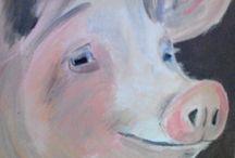 vee stapel / schilderijen die ik heb gemaakt.