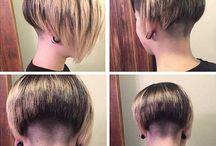 Női hajvágás és női frizurakészítés / Női hajvágás és frizurakészítés, illetve az eredményül kapott csinos női kész frizurák.