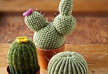 Strikkede kaktus - nålepuder