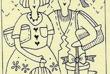 Outlines - stitcheries