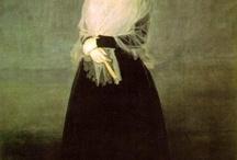 Arte. Francisco de Goya y Lucientes (1746-1828) / Fue un pintor y grabador español. Su obra abarca la pintura de caballete y mural, el grabado y el dibujo. En todas estas facetas desarrolló un estilo que inaugura el Romanticismo. El arte goyesco supone, asimismo, el comienzo de la pintura contemporánea, y se considera precursor de las vanguardias pictóricas del siglo XX. / by botafogo