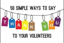 """Ways to Thank Volunteers / Our volunteers are so important! Show them you care about their service with great ideas of ways to say """"thank you""""!"""