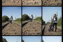 Girl in the road / Sesión de fotos en la Novena Región,