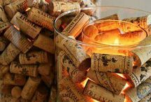 Wine corks and boxes