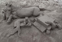 Mike plays with Sand / Sand Sculptures