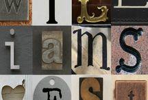 tablouri cu litere