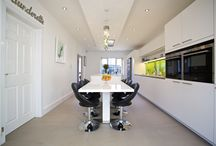 Glitz and Glamour / The clients came to us looking to alter the layout of their family home to suit the needs of their growing family.  Originally, they had separate livings spaces that was not functional for their daily lives.  The kitchen space felt very dark, even though it was open to their recent extension which had a lot of glass.  They wanted a 'Wow' kitchen with a living space that the family would spend most of their time in with a hint of 'Bling' in places!