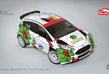 Stohl Racing (Ford Fiesta R5, Ford Fiesta RRC) / Design and wrap of Ford Fiesta R5 for Rally Monte Carlo, design of Ford Fiesta RRC for A. Kremer including wrap.