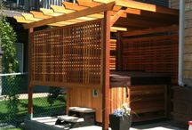 Backyard privacy screen