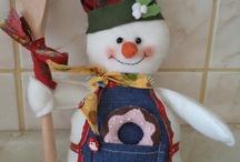 muñecos navideños para cocina