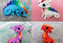 Polymer clay - dragons and monsters