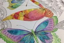 Millie Marotta Butterflies and Dragonflies