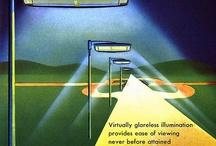 GENERAL ELECTRIC - oświetlenie na starej reklamie
