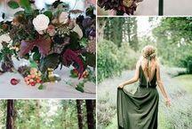wesele bordo zieleń