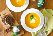 Soupes / Recettes de soupes d'hiver et printemps : n'hésitez pas à associer légumes et Activia Nature !