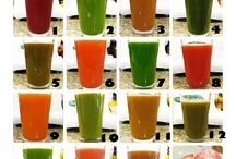 Juice recipes for healthy living and diet!! / Fruits and vegetables