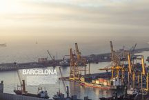 Barcelona Harbour / Some pictures of Barcelona's Port taken from Montjuic mountains at sunrise. / by Blixt™