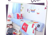 Pirates Ahoy / Ahoy Shipmates, have you got a budding pirate at home? If so, we have just the look for you. Our pirate theme accessories, help you to transform your little person's bedroom into a space fit for a Sea Captain.The colour scheme is bright and contemporary, with a range of soft furnishings to mix and match. The Pirate Quilt is especially good at preventing the shivering of any timbers!