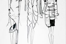 Fashion illustrations / Fashion illustrations sketched by me.