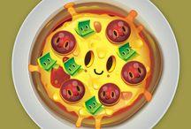 Essen mit Gesichter