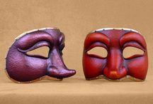 Commedia del Arte masks