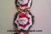 Meus Artesanatos para o Natal / http://rubiaartes.blogspot.com.br