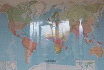 Ecco il mio planisfero murale dove lavoro / Ecco il mio planisfero murale dove lavoro :D