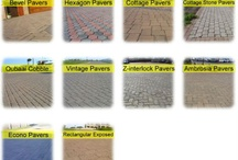 Mobicast Products: Pavers / Mobicast has the largest range of bricks, paving and retaining blocks in the Southern Cape.  We have branches in George, Mossel Bay and Harkerville.