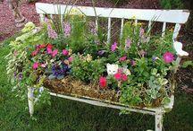 Gartenbank bepflanzen