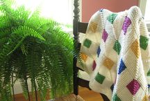 Knit afghans and blankets