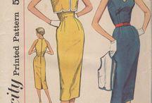 Fashion 1960's / Patterns I want to make