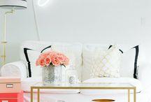 Design Accents / Side tables + lamps + art
